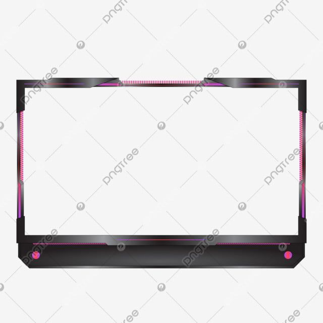 Streaming Overlay Frame Modern For Live Stream Game Live Vector Stream Png And Vector With Transparent Background For Free Download Overlays Overlays Transparent Frame