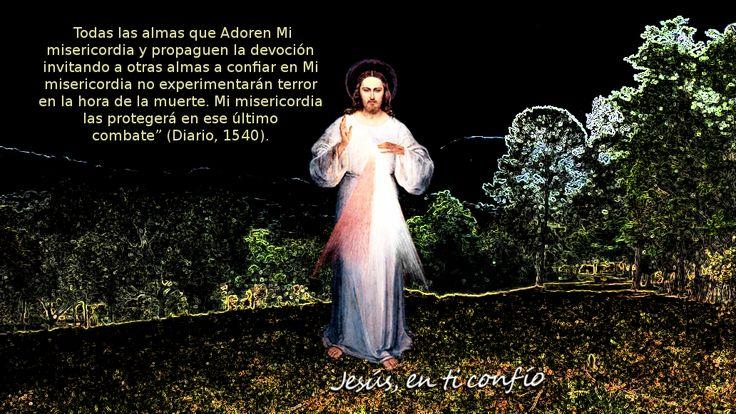 Divina Misericordia : foto de Jesus en la noche con promesa