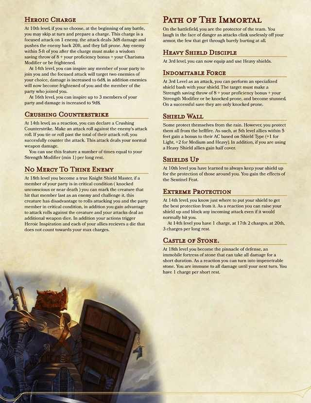 5e Homebrew Class - Shield Master in 2019 | dnd classes | Dnd