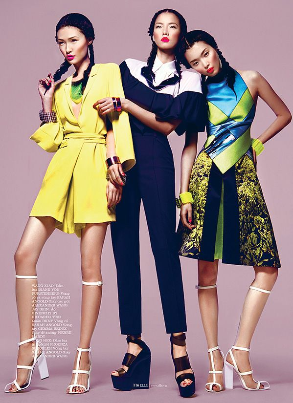 KOPASEVIPH: Sung Hee, Wang Xiao & Jay Shin for Elle Vietnam March 2013