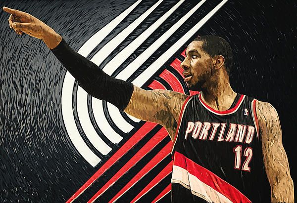 lamarcus aldridge, portland trail blazers, portrait, illustration, nba, basketball, player, power forward, center, all-star, mvp, finals, playoffs, poster, dallas, texas, american, oregon, northwest division, western conference, moda center, arena, sports, decorative, home decoration, office, living room, bedroom, cafe, bar, restaurant, cool, digital painting, champion, rooster, league, jersey, best, gift ideas, celebrity, legend, olympics, pop art, red, white, black, vector, athletic