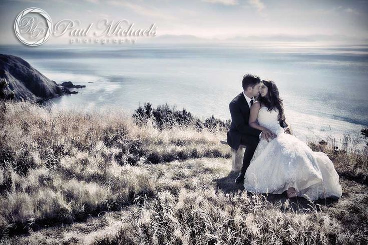 Bride and groom at Boomrock. New Zealand #wedding #photography. PaulMichaels of Wellington www.paulmichaels.co.nz