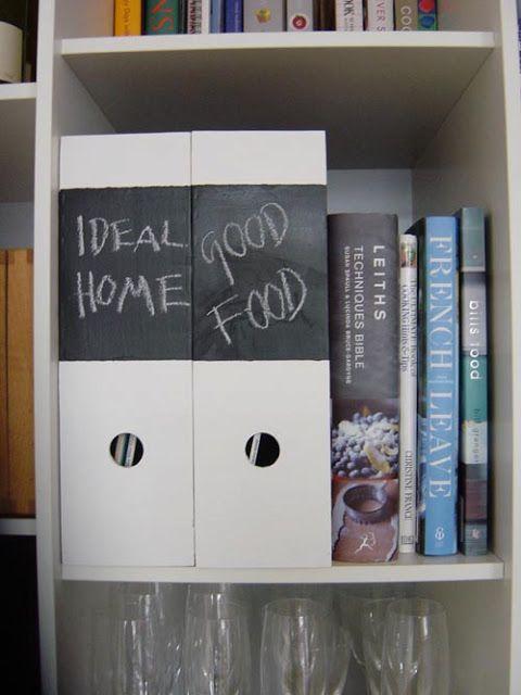 Ikea chalkboard magazine box - IKEA Hackers