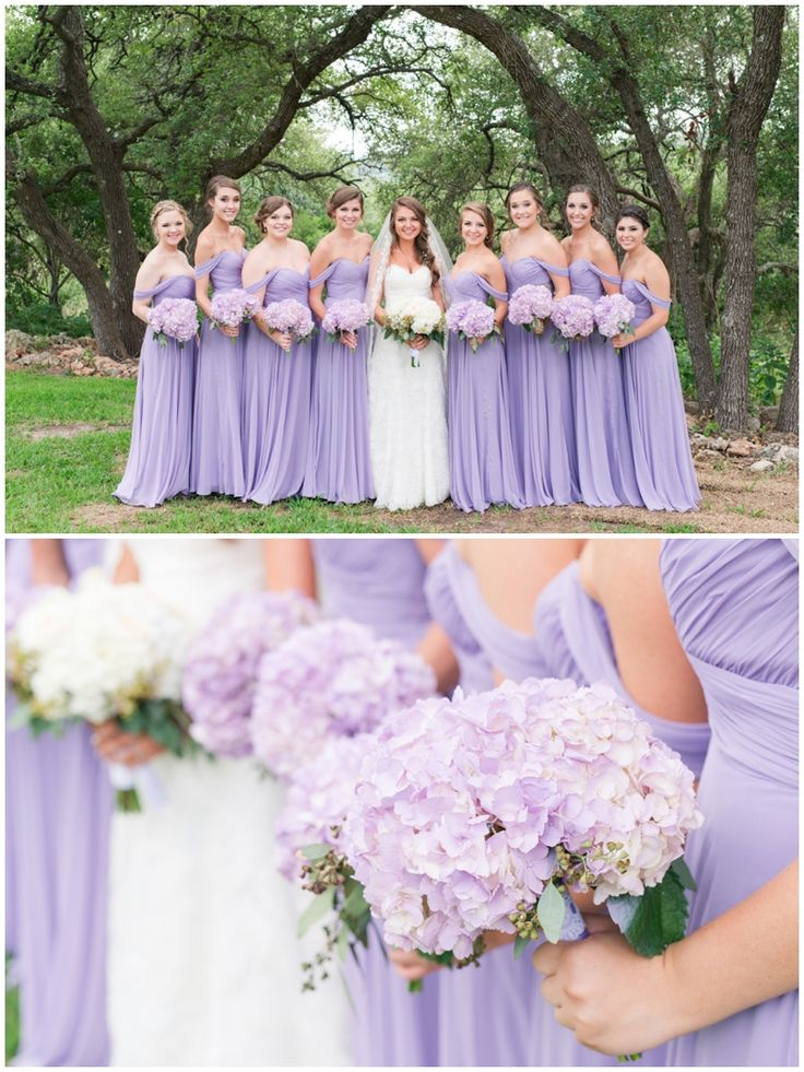Lavender Wedding at THE SPRINGS in Georgetown.  Gorgeous, lavender bridesmaids in long dresses!