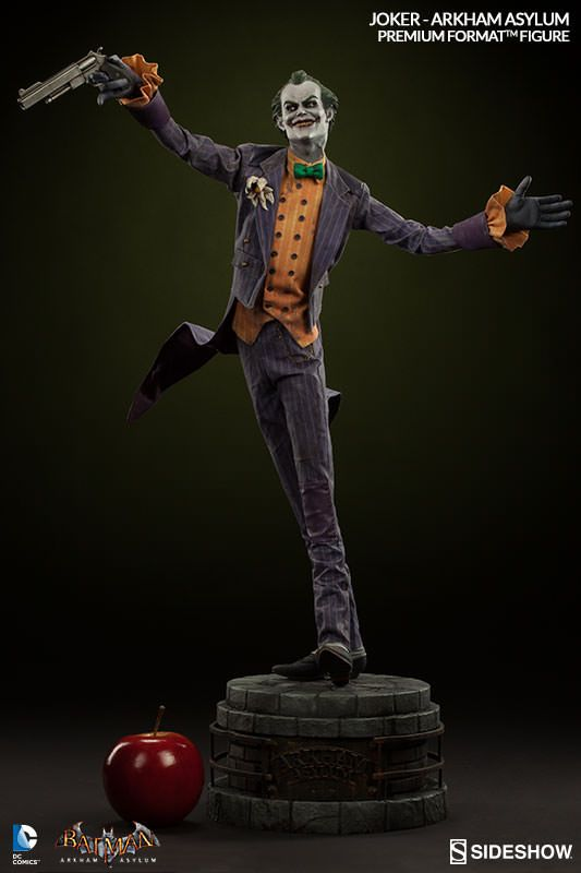 バットマン:アーカム・アサイラムのジョーカー。サイドショウ フィギュア