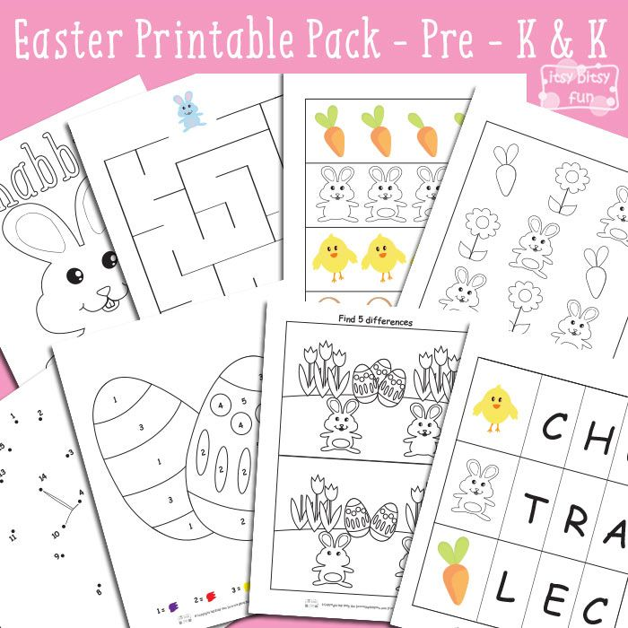 Easter Printables for Kids - Preschool and Kindergarten