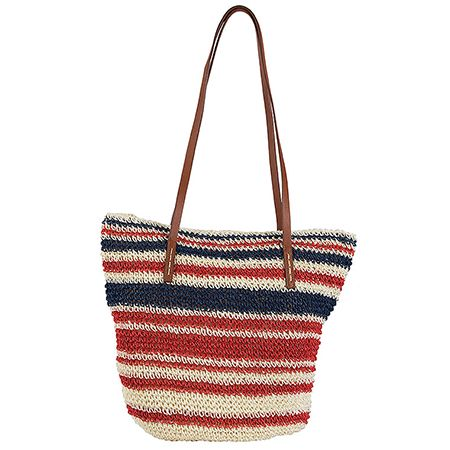 Light and colorful, a straw bag like this can accompany you in every summer outfit! Beach or city? The choice is yours and so is the style!   #achilleas_accessories #straw #bag #style #fashion #stylish #shopping #online #eshop #cool