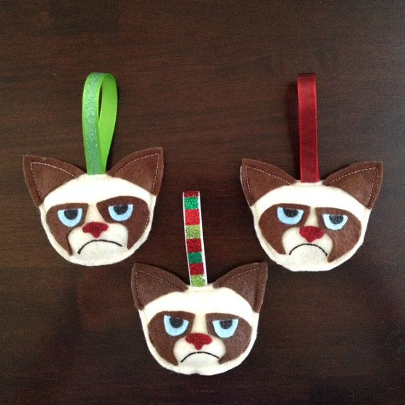 Grumpy Cat Christmas Ornaments | I am the crazy cat lady ...