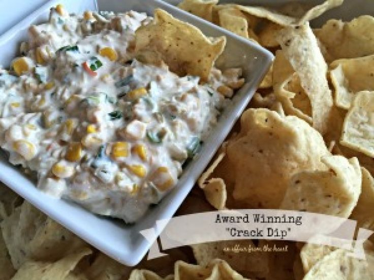 """This """"Crack Dip"""" gets it name from the fact that it is seriously addicting. You can't possibly eat just one chipful! It's got a creamy texture, with just a little bit of heat."""