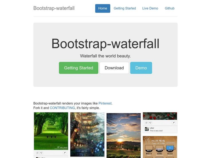 Bootstrap Waterfall