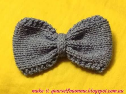 Image Result For Knitted Bow Pattern Knit Pinterest Bow