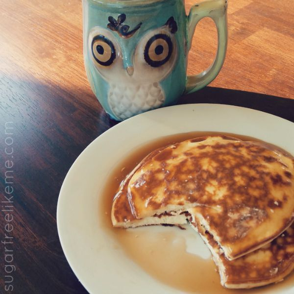 Low Carb Quest Protein Pancakes. This simple base recipe could be used with most protein powders. No nut flours needed!