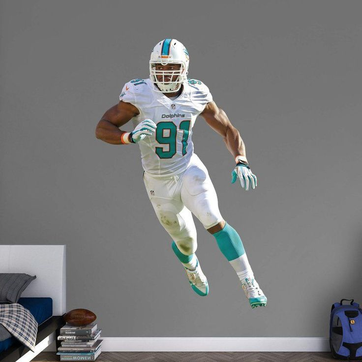 Fathead NFL Miami Dolphins Cameron Wake Defensive End Wall Decal - 12-21224