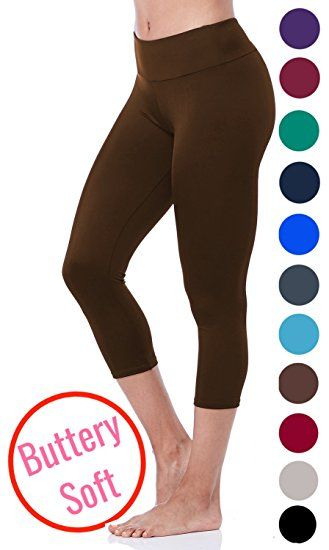 LMB Lush Moda Extra Soft Capri Leggings - Variety of Colors - Aqua at Amazon Women's Clothing store: