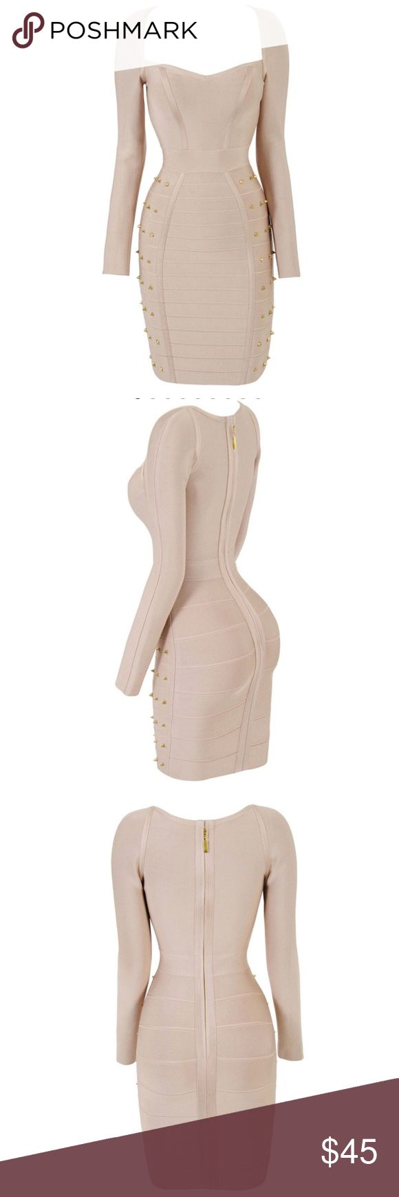 Selling this Celeb Boutique Elisa nude long sleeve dress on Poshmark! My username is: li820. #shopmycloset #poshmark #fashion #shopping #style #forsale #Celeb Boutique #Dresses & Skirts