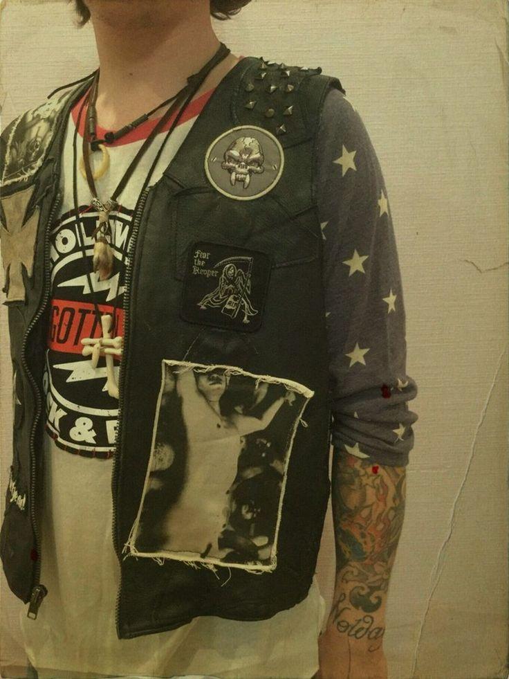 Image of Rocker distressed leather vest