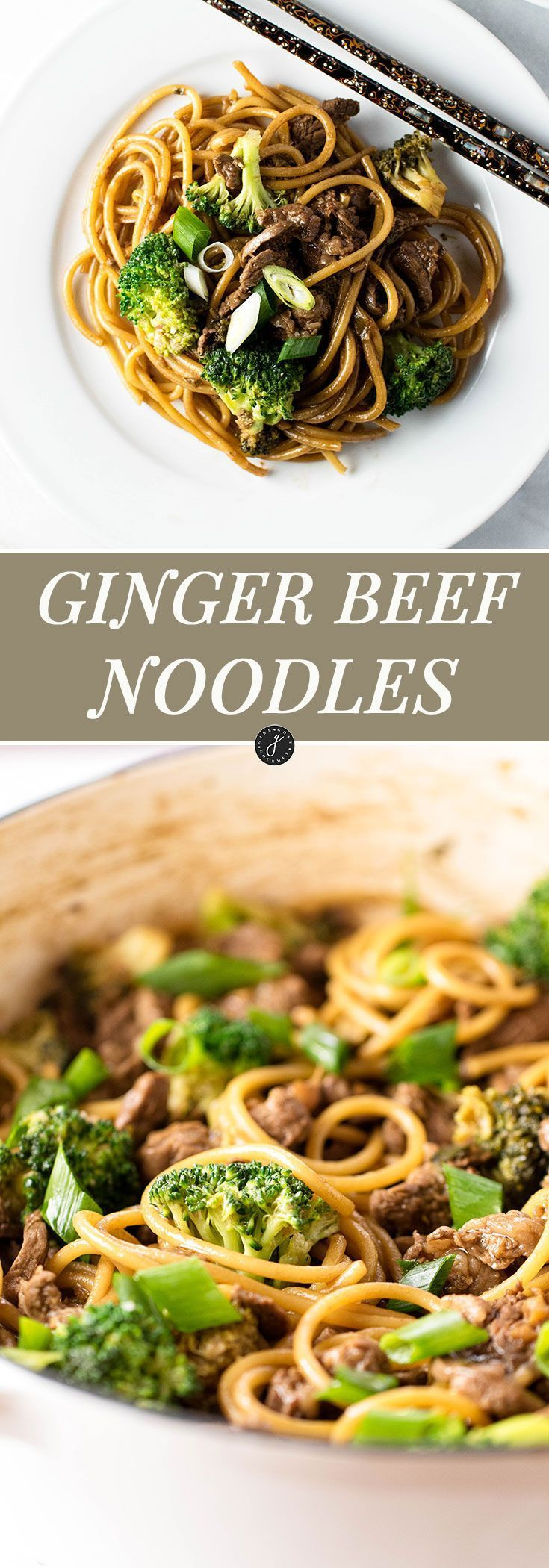 30-Minutes is all you need for these ginger beef noodles | http://girlgonegourmet.com via /april7116/