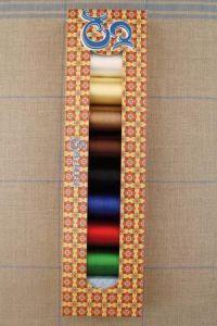 Boîte sélection Sajou - huit bobines fil de rayonne 100m - Ass. 1