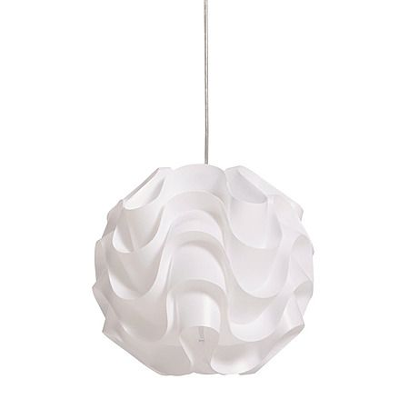 Necessities Brand Super PVC Pendant Light White 31cm - Indoor Lighting - Living Room - Homewares - The Warehouse