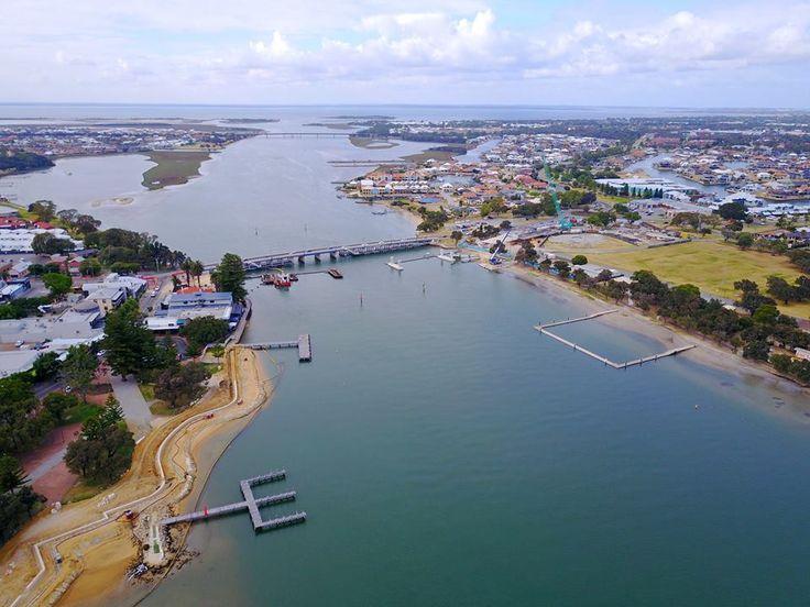 A little progress shot of the new new super dooper bridge for you all :) — in Mandurah, Western Australia