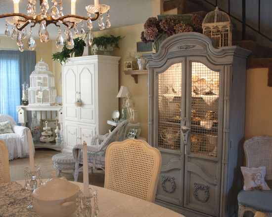 English Cottage With French Country Furn Design · Traditional Dining RoomsRomantic  ...