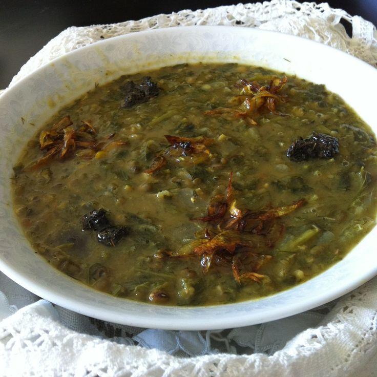 La mia cucina persiana: Ash e Sabzi - La tipica Zuppa Persiana di legumi, Erbe Aromatiche e Spezie