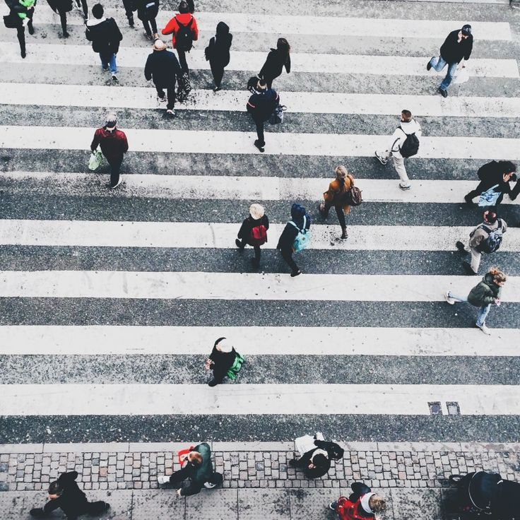 crossing the road is an action that most people take part in everyday. We have all crossed a road not paying much attention to the others around us. But look at the diversity, look at how everyone is the same but different at the same time.