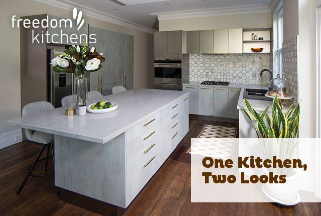 One Kitchen Two Looks Kitchen First Kitchen Cabinetry