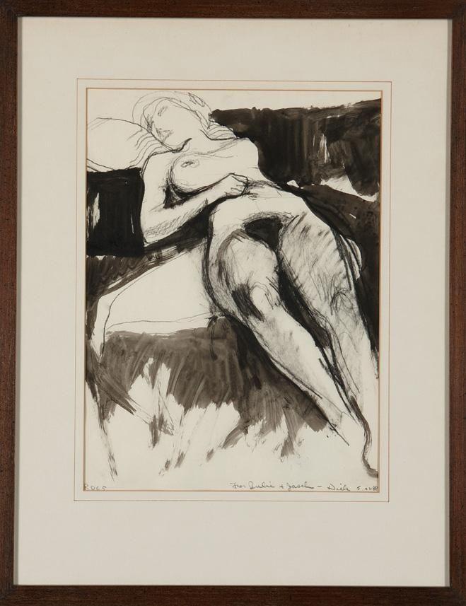 Richard Diebenkorn - Untitled (Nude Resting, Drawing)
