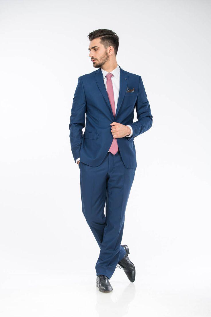 Costum bleumarin barbati