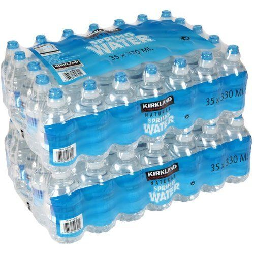 From 15.98 Kirkland Signature Natural Spring Water 70 X 330ml Sports Cap Bottles (pack Of 2)