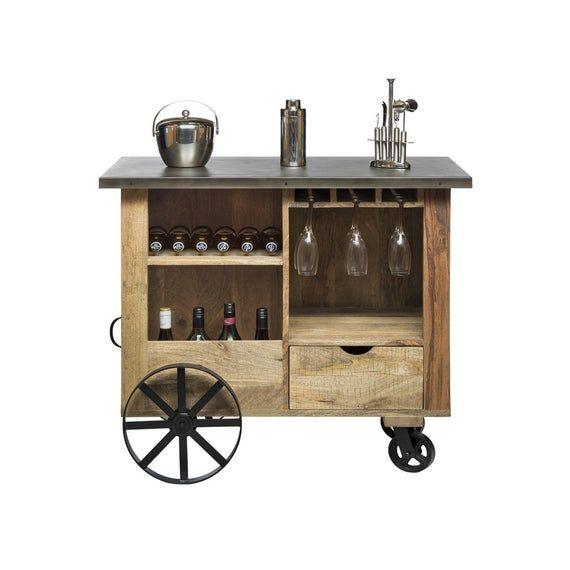 Bar Cabinet Trolley Cart Kitchen Island Industrial Wine Etsy Industrial Bar Cart Industrial Bar Wine Storage