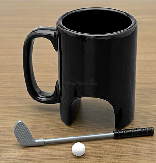 Golf Coffee Mug - Looks like fun!! Perfect Father's Day gift for dad's who love golf and coffee.