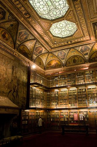 Morgan Library by machbel, via Flickr, Manhattan, New York City. It was built in 1900 and designed by Charles McKim.