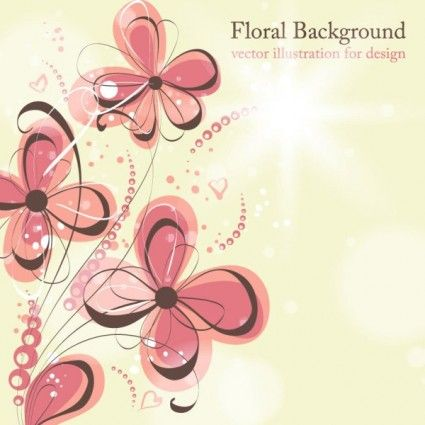 Beautiful flowers illustration background pattern 04 vector | All Free Downloads.com