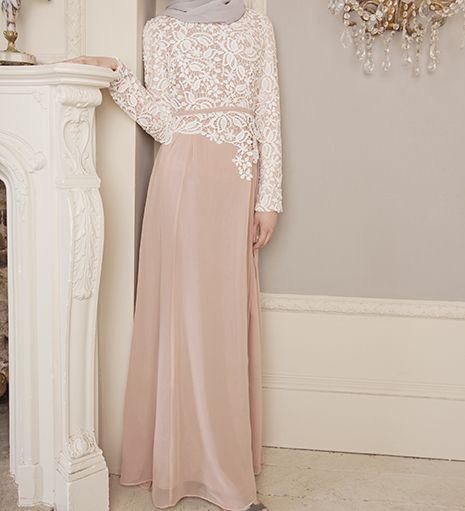 DUSTY PINK CROCHET DRESS