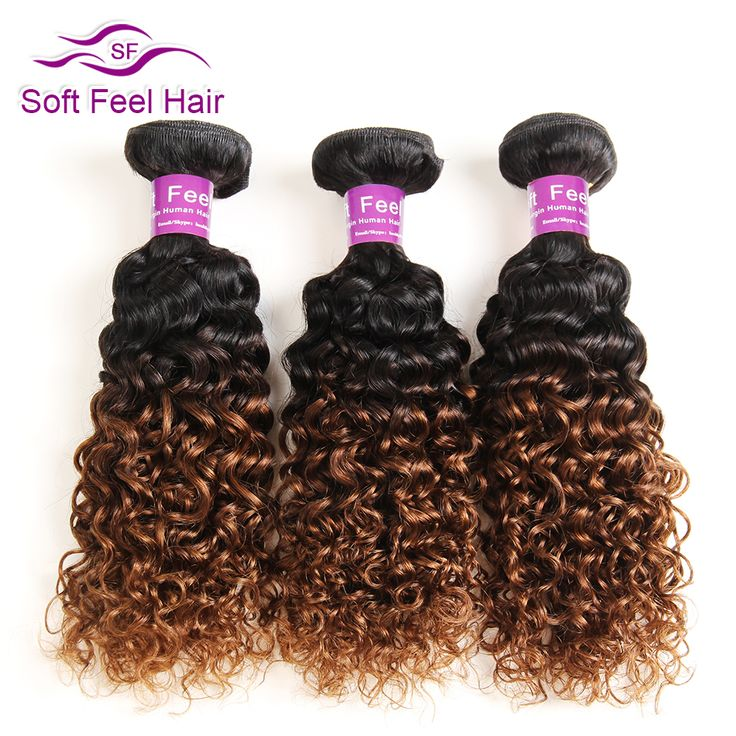 ==> [Free Shipping] Buy Best Soft Feel Hair Ombre Brazilian Hair 1 Piece Kinky Curly Weave Human Hair Bundles 1B/30 Non Remy Hair Extensions Can Buy More PCS Online with LOWEST Price | 32805682526