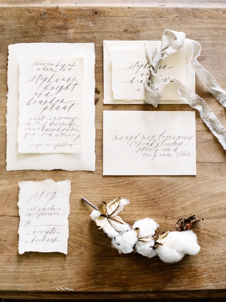 Flowing Calligraphy Wedding Stationery   photography by http://www.michaelandcarina.com/