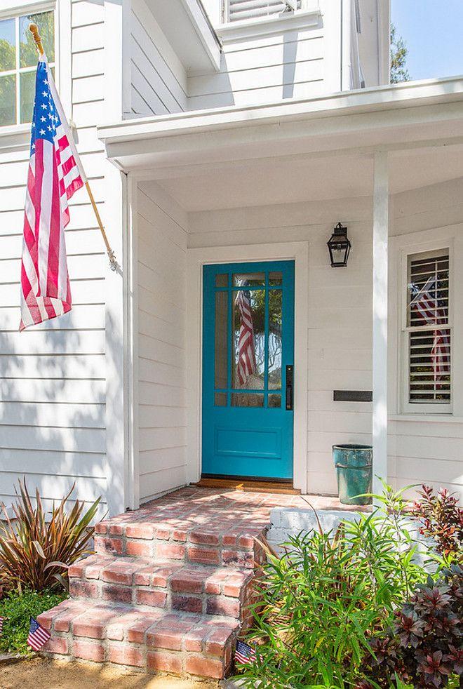 Turquoise Front Door Paint Color Benjamin Moore Meridian Blue. This