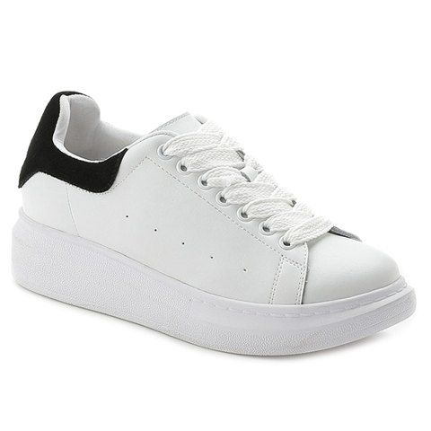 Casual Lace-Up and Colour Block Design Athletic Shoes