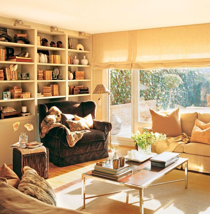 6 salones con librería · ElMueble.com · Salones