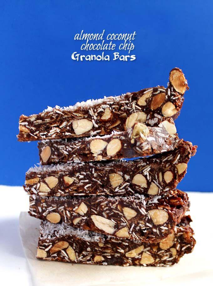 Almond Coconut Chocolate Chip Granola Bars. Simple. Easy. Delicious. guilt free dessert #GlutenFree #RefinedSugarFree (scheduled via http://www.tailwindapp.com?utm_source=pinterest&utm_medium=twpin&utm_content=post12631922&utm_campaign=scheduler_attribution)