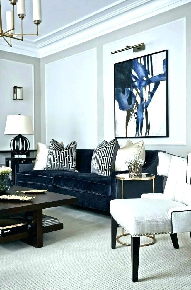 Google Image Result For Http Izofitil Info Wp Content Uploads 2019 01 Blue Black And White Living Room Decor Gold