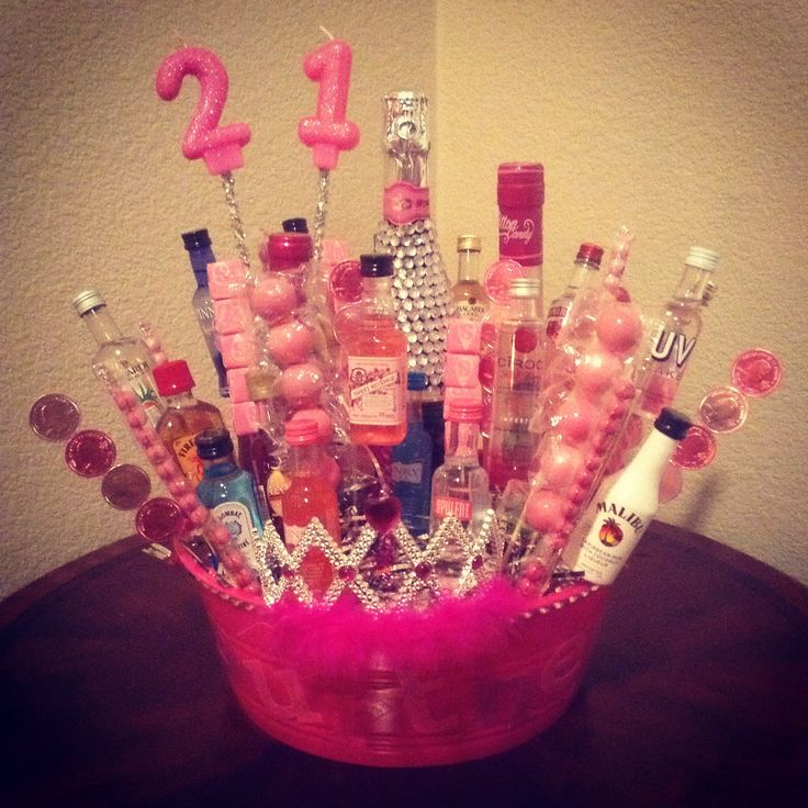 Made this booze bouquet for my girls 21st!