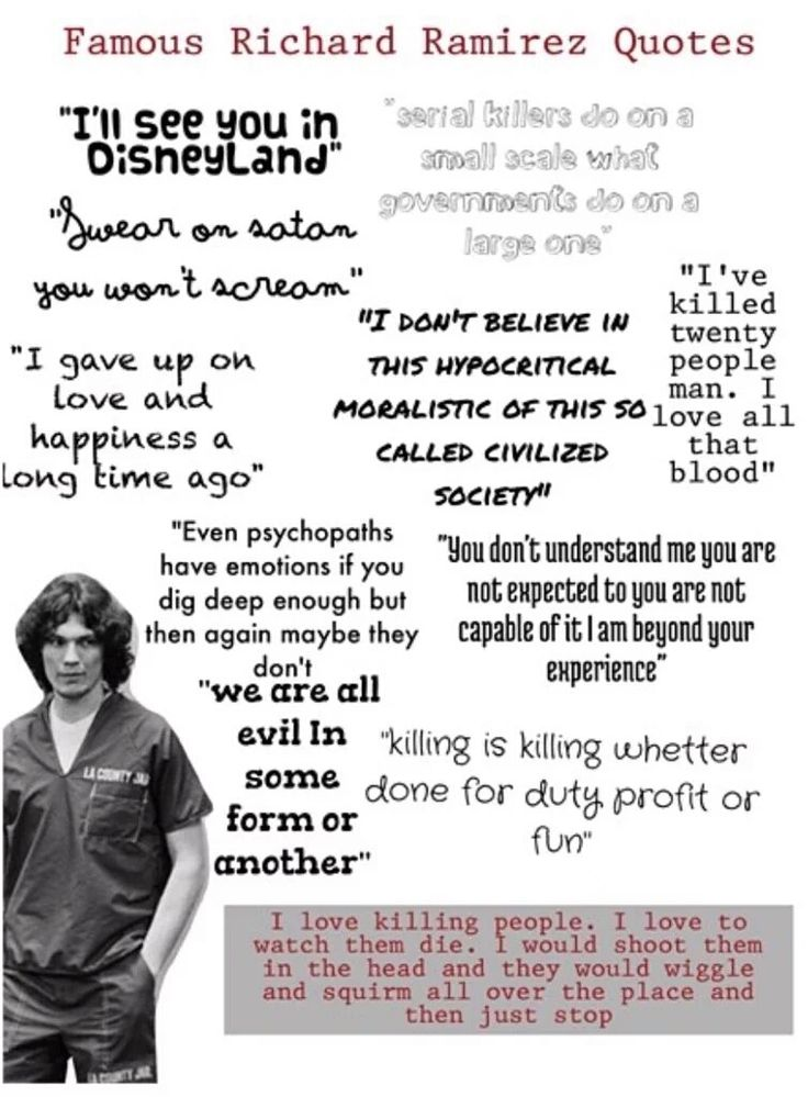 Famous Richard Ramirez quotes