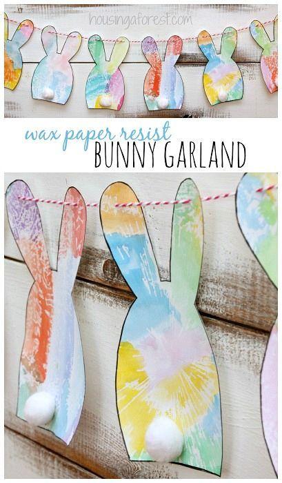 DIY Easter Decorations ~ Simple Bunny Garland