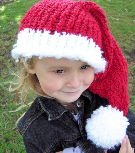 toddler knit santa hat pattern girl