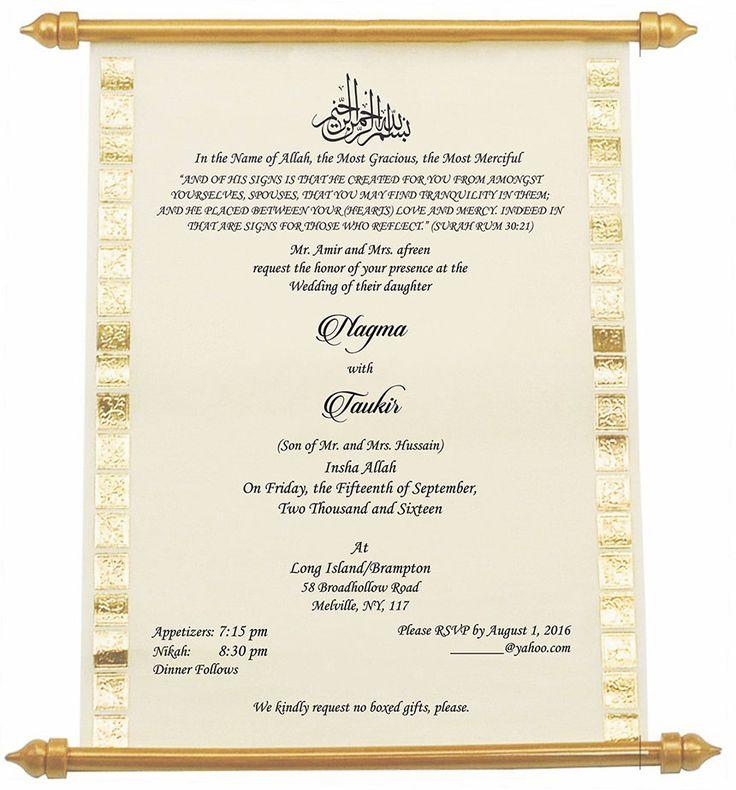 Concept 50 of Muslim Wedding Card Wording