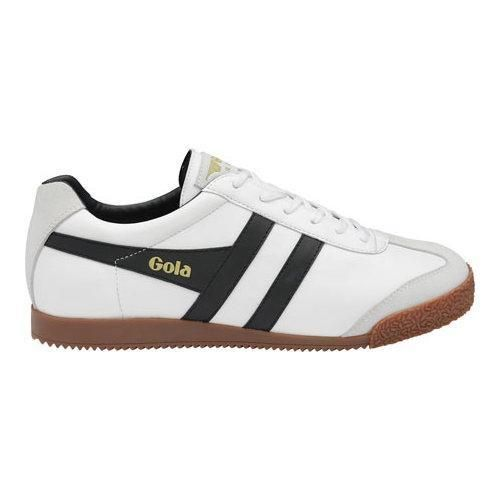 Men's Gola Harrier Sneaker White/ /Gum Rubber. Leather SneakersBlack ...