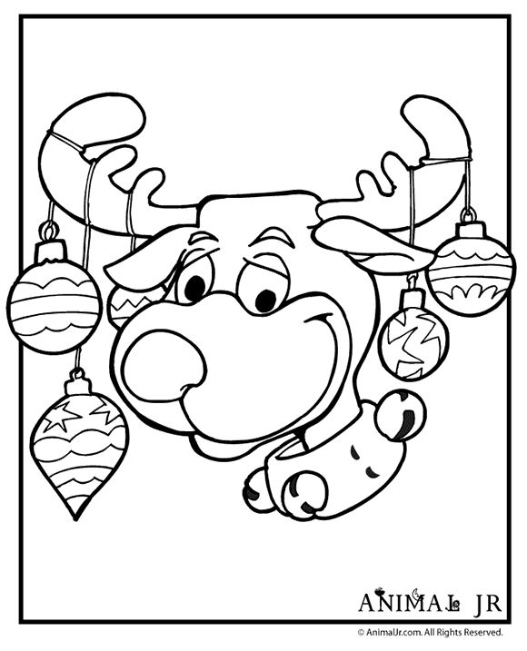 Reindeer Coloring Page Free Christmas Recipes Coloring Pages
